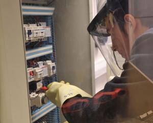 Intervention armoire électrique de rampe d'éclairage