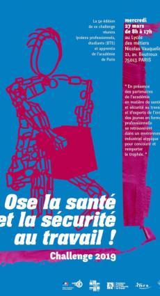 Affiche challenge 2019 ose la santé et la sécurité au travail