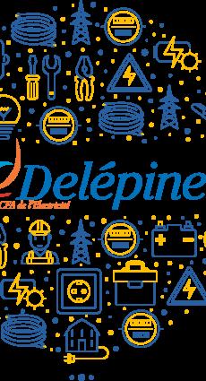 Infographie du CFA Delépine et des métiers de l'électricité.