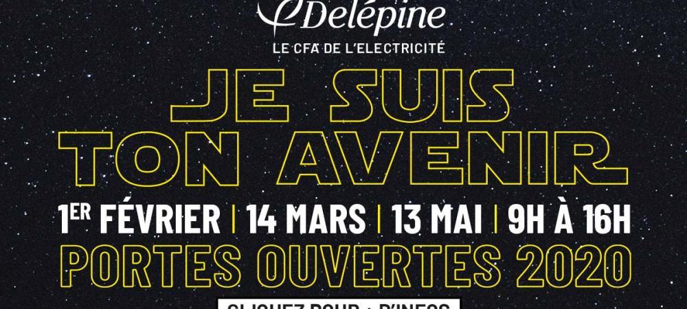 Affiche des Portes Ouvertes 2020 au CFA Delépine